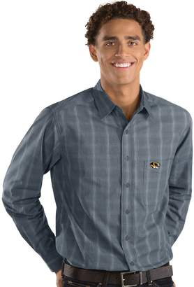 Antigua Men's Missouri Tigers Plaid Pattern Button-Down Shirt