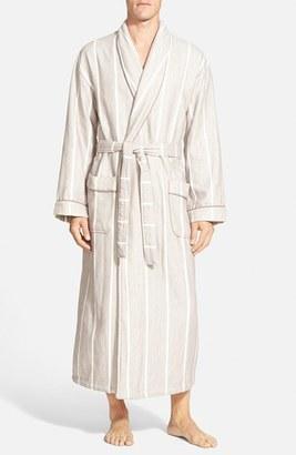 Men's Majestic International 'Breakers' Herringbone Cotton Robe $135 thestylecure.com