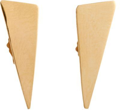 Loren Stewart Gold Isosceles Stud Earrings