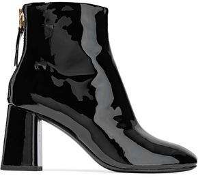 Alice + Olivia Mulberry Patent-Leather Ankle Boots