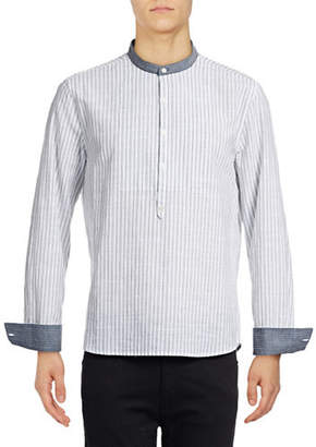 Michael Bastian Woven Striped Shirt