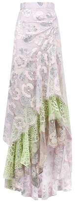 Peter Pilotto Ruffle Lace Maxi Skirt