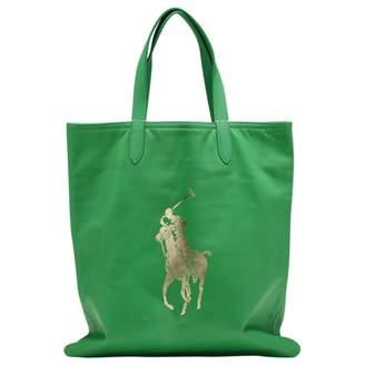 Polo Ralph Lauren Green Leather Handbag