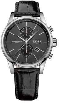 HUGO BOSS Chrono Leather Wrist Watch