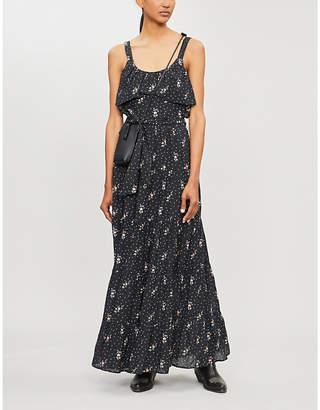Paige Tevin floral-print cotton-blend maxi dress