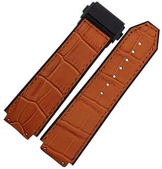 Hublot Span Realm Genuine Leather Strap With Silicon Lining And 361L Stanless Steel Buckle H-U-B-L-O-T Replacement 2519mm (, 25)