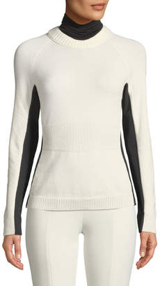 Moncler Colorblock Knitted Turtleneck Sweater