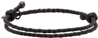 Bottega Veneta Black Intrecciato Bracelet