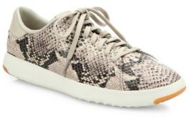 Cole Haan GrandPro Tennis Snake-Embossed Leather Sneakers $150 thestylecure.com