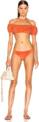 Lisa Marie Fernandez Leandra Terry Bikini in Terracotta | FWRD