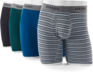 Hanes Men's Ultimate 4-pack Tagless Longer Leg Stretch Boxer Briefs