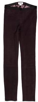 Helmut Lang Leather Low-Rise Leggings