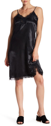 Mimi Chica Lace Trim Satin Slip Dress $46 thestylecure.com
