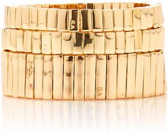 Roxanne Assoulin Set-Of-Three Watch Band Gold-Plated Bracelets