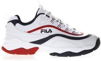 Fila White Faux Leather Sneaker