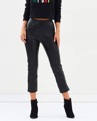 MinkPink Black Night Cropped Pants