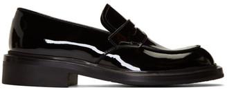 Prada Black Patent Penny Loafers