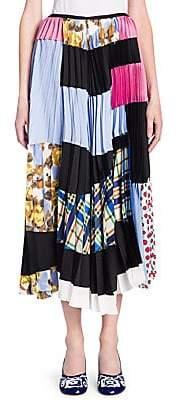 Marni Women's Silk Patchwork Skirt
