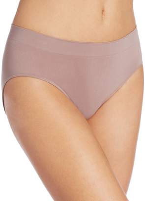 Bali Women's One Smooth U All Over Smoothing Hi Cut Panty, Private Jet with Black Lace, Medium/