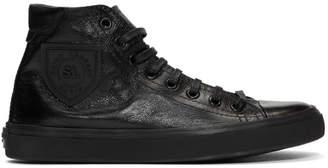 Saint Laurent Black Bedford Mid-Top Sneakers
