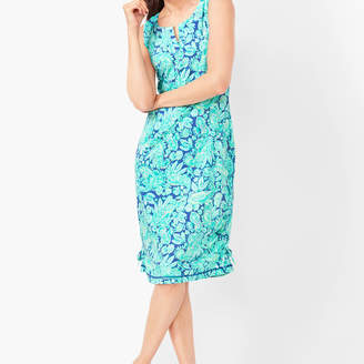 Talbots Floral Paisley Terry Dress