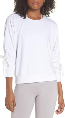 Zella Gather Sleeve Sweatshirt