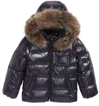 Moncler K2 Water Resistant Hooded Down Jacket with Genuine Fox Fur Trim