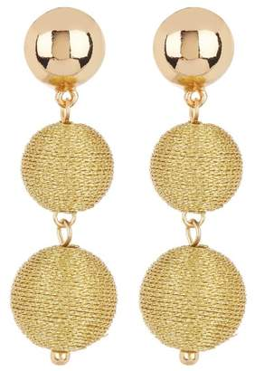 Ettika Wrapped Ball Earrings