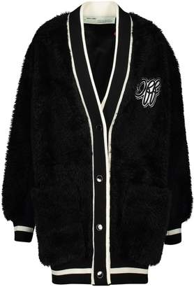 Off-White Off White Fake fur College cardigan