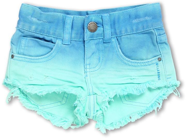 Billabong Kids - To Dye Denim Short (Little Kids/Big Kids) (Bahama Mama) - Apparel