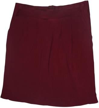 Les Prairies de Paris Burgundy Silk Skirts