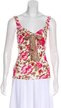 Les Copains Printed Sleeveless Top w/ Tags