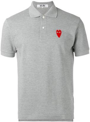 Comme des Garcons elongated heart polo shirt
