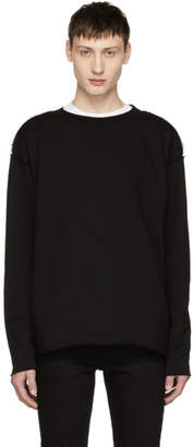 Diet Butcher Slim Skin Black Cut-Off Sweatshirt