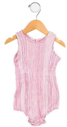 Pink Chicken Girls' Striped Sleeveless All-In-One w/ Tags