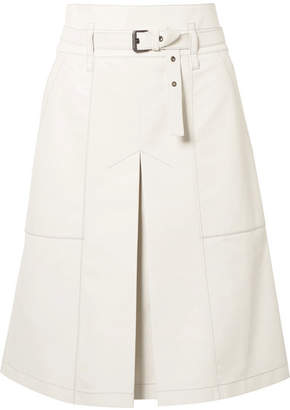 Bottega Veneta Belted Leather Skirt - Off-white