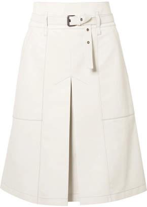 Bottega Veneta Belted Leather Skirt - Off-white