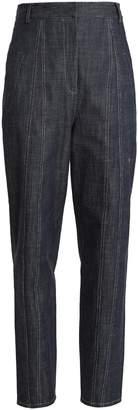 Tibi Easton raw denim high-waist jeans
