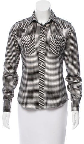 Ralph Lauren Gingham Button-Up Top