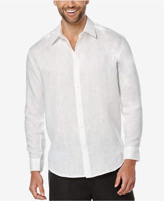 Cubavera Men's 100% Linen Perforated Long-Sleeve Shirt