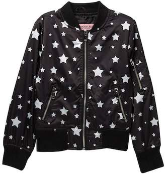 Urban Republic Star Print Bomber Jacket (Big Girls)