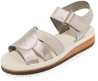 A.P.C. Olympe Sandals $235 thestylecure.com