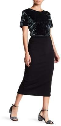 14th & Union Ponte Pencil Midi Skirt