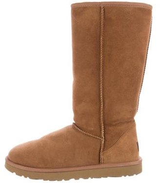 UGG Australia Suede Leather Tall Boots $95 thestylecure.com