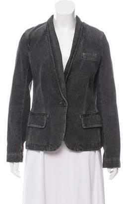 Marc Jacobs Denim Shawl Collar Blazer
