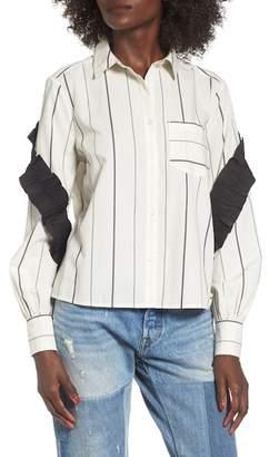 BP Grosgrain Ruffle Stripe Shirt