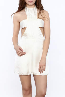 Dawn Sunflower White Silk Dress