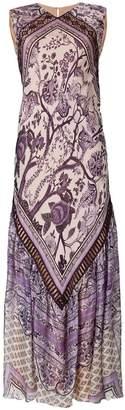 Alberta Ferretti foulard-print maxi dress