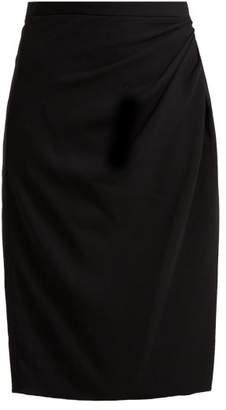 Altuzarra Crane Satin Pencil Skirt - Womens - Black