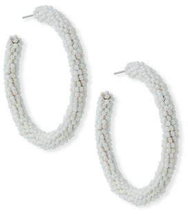 Sachin + Babi Beaded Hoop Earrings